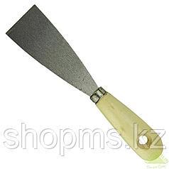 Шпательная лопатка из нержавеющей стали, 50 мм, деревянная ручка// SPARTA