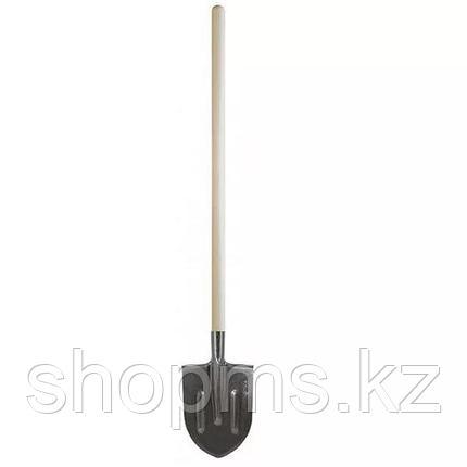 """Лопата """"Рельсовая сталь"""" с деревянным черенком штыковая, фото 2"""