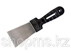 Шпательная лопатка из нержавеющей стали, 60 мм, пластмассовая ручка//СИБРТЕХ