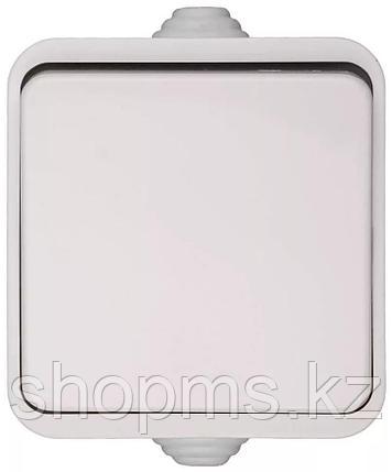 Выключатель СВЕТОЗАР БАТТЕРФЛЯЙ одноклавишный, цвет белый,10А/~250В, фото 2