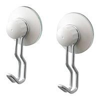 Крючок с присоской ИММЕЛЬН 2 шт. белый ИКЕА, IKEA , фото 1