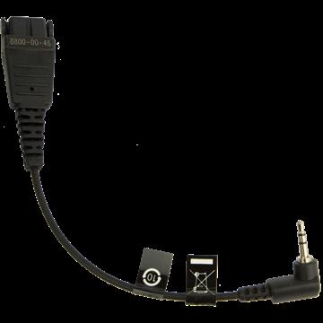 Шнур-переходник Jabra QD/mini jack 2.5 прямой (8800-00-46)