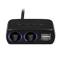 Разветвитель на 2 розетки 2 USB c кабелем Neoline SL-221