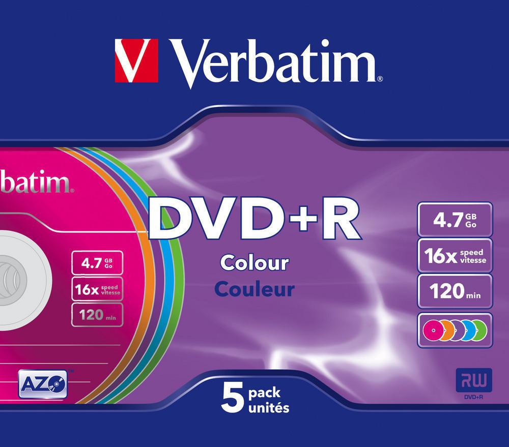 DVD+R  4.7GB Color Verbatim