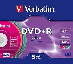 DVD+R  4.7GB Color Verbatim
