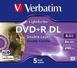 DVD+R  8.5GB Lightscribe Verbatim
