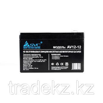 Аккумуляторная батарея SVC AV(VP)12-12, 12В, 12 Ач, фото 2
