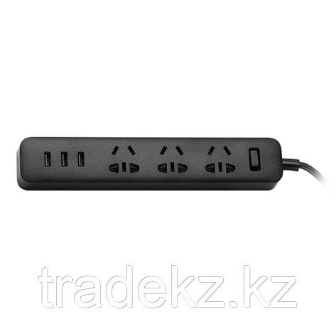 Удлинитель Xiaomi MI (3 розетки+3 USB) Чёрный, фото 2