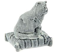 """Сувенир """"Кот на подушке с клубком"""",  6,5 см × 5,5 см × 6 см"""