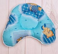 """Подушка для мальчика """"Сердечко"""" (от 1 мес.), размер 30*25 см, цвет голубой, фото 1"""