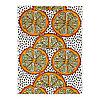Ткань ОРАНГЕЛИЛЬЯ оранжевый, белый/черный  ИКЕА IKEA