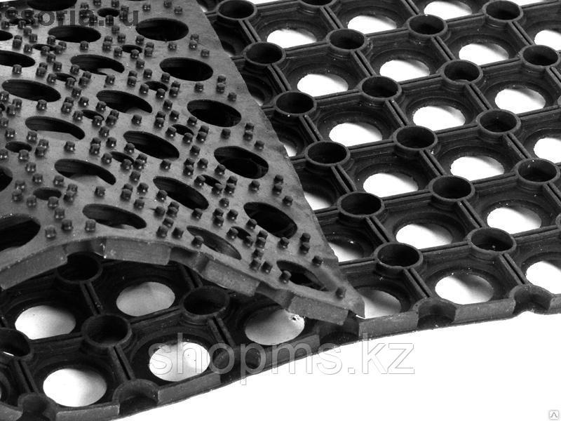 20003 Коврик ячеистый грязесборный Vortex черный 80*120 см
