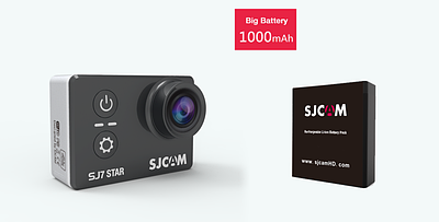 SJCAM® Аккумулятор для SJ7 STAR (ОРИГИНАЛ)
