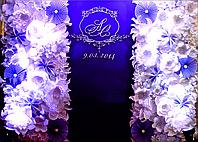 Press Wall с цветами на свадьбу, фото 1