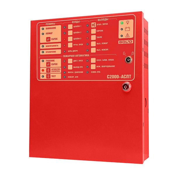 C2000-АСПТ - Прибор приемно-контрольный и управления автоматическими средствами пожаротушения и оповещателями