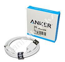 Зарядный micro USB кабель Anker 0.9 mm 3ft