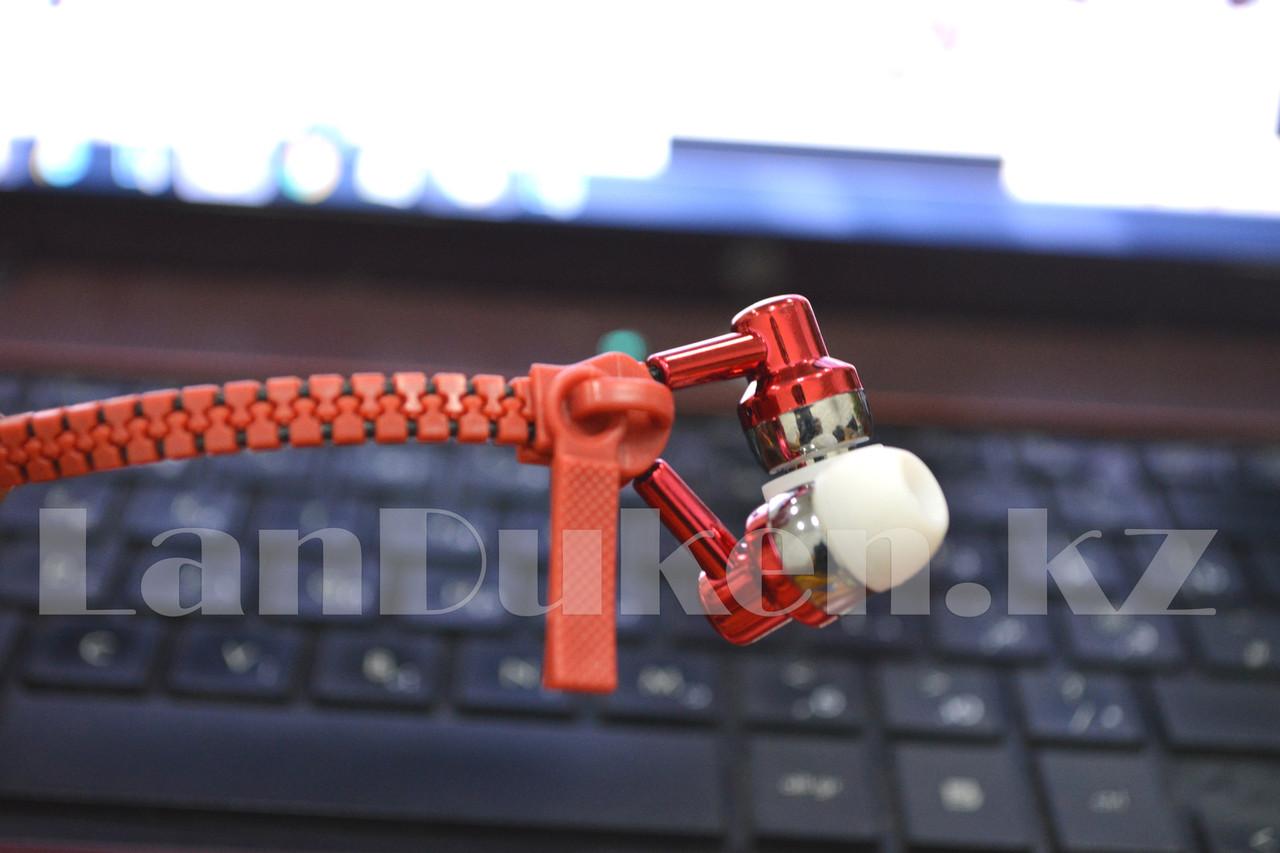 Наушники-молния Zipper Earphone красные - фото 2