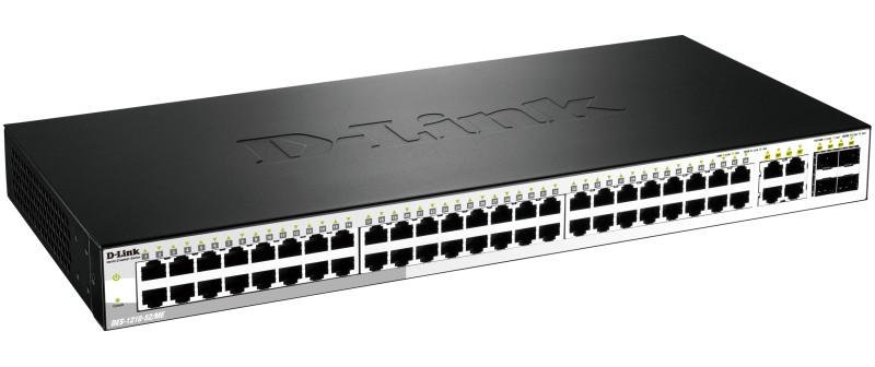 D-link DES-1210-52/ME Управляемый коммутатор 2 уровня с 48 портами 10/100Base-TX и 4 комбо-портами 1000Base-T/