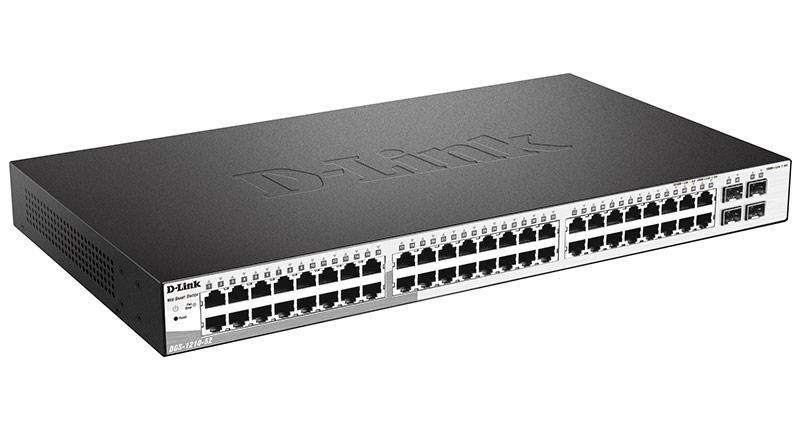 D-link DGS-1210-52 Настраиваемый коммутатор WebSmart с 48 портами