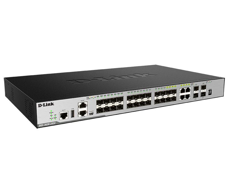 D-link DGS-3630-28SC Управляемый стекируемый коммутатор 3 уровня с 20 портами