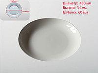 Тарелка глубокая, белая, D 450 мм , фото 1