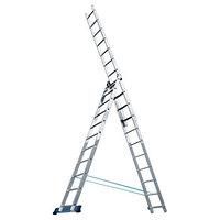Лестница трехсекционная (3х7 ступеней) СИБРТЕХ 97780 (002)