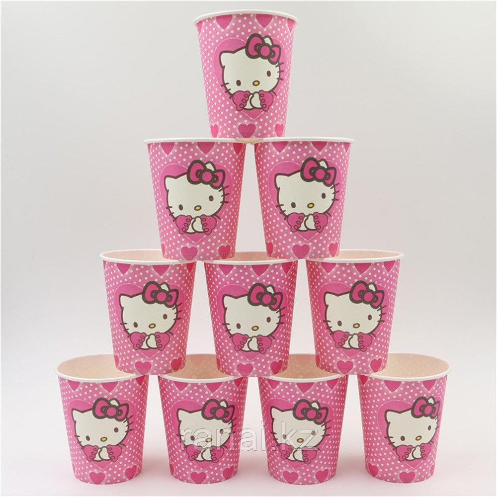 """Одноразовая посуда для праздника Бумажные стаканчики """"Hello Kitty"""" Бумажные стаканы"""