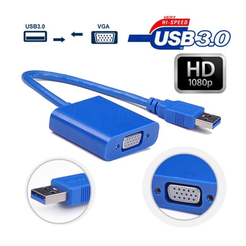 Адаптер,Внешняя USB видеокарта (переходник) USB 3.0 - VGA