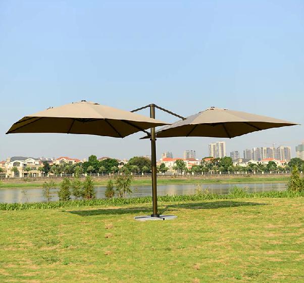 Зонт двойной квадратный (6х3), зеленый