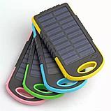 Аккумулятор для зарядки портативный на солнечной батарее с фонариком Solar Charger (5000 мАч.), фото 2