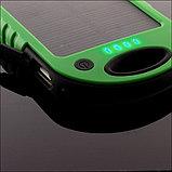 Аккумулятор для зарядки портативный на солнечной батарее с фонариком Solar Charger (5000 мАч.), фото 3
