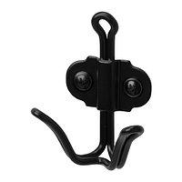 Крючок двойной СВАРТШЁН черный ИКЕА, IKEA , фото 1