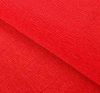 Итальянская Бумага гофрированная 580 красно-оранжевая (мандариновая), 50 см х 2,5 м, фото 1