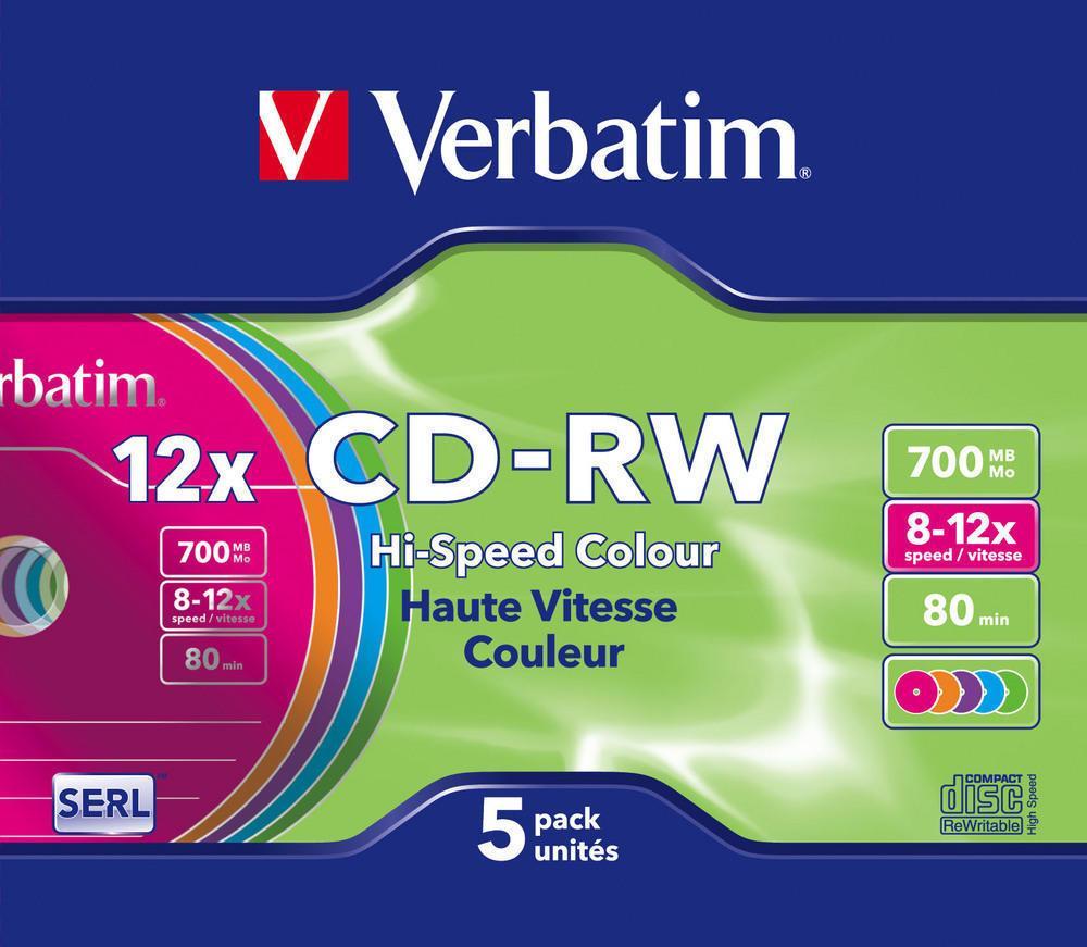 Диски CD-RW 8-12X Verbatim