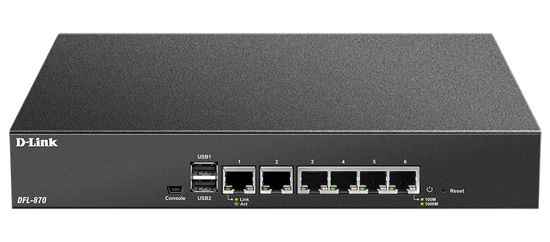 D-Link DFL-870 Гигабитный межсетевой экран NetDefend с 6 настраиваемыми портами