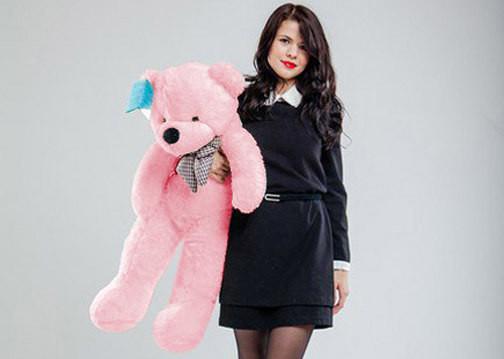 Мишка 80 см розовый