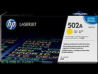 Лазерный картридж HP 502A (Оригинальный, Желтый - Yellow) Q6472A