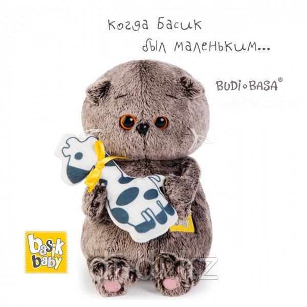 "Мягкая игрушка Budi Basa ""Кот Басик BABY с жирафом"" (20 см)"