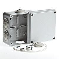 Коробка 100х100х50мм распред. 4 самореза, 6 вводов 080-00 IP55  ELFO