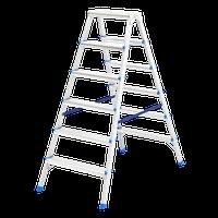 Стремянка двусторонняя 6 ступеней, алюминиевая СИБРТЕХ 97926 (002)