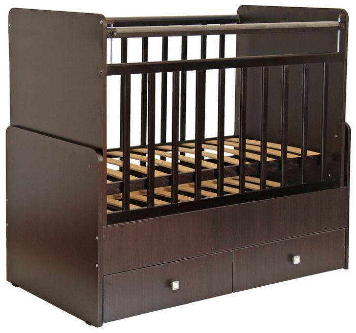 """Кроватка - трансформер Фея """"720"""", (венге), состав - ЛДСП, маятник (поперечный), ящик под кроватью - 2"""
