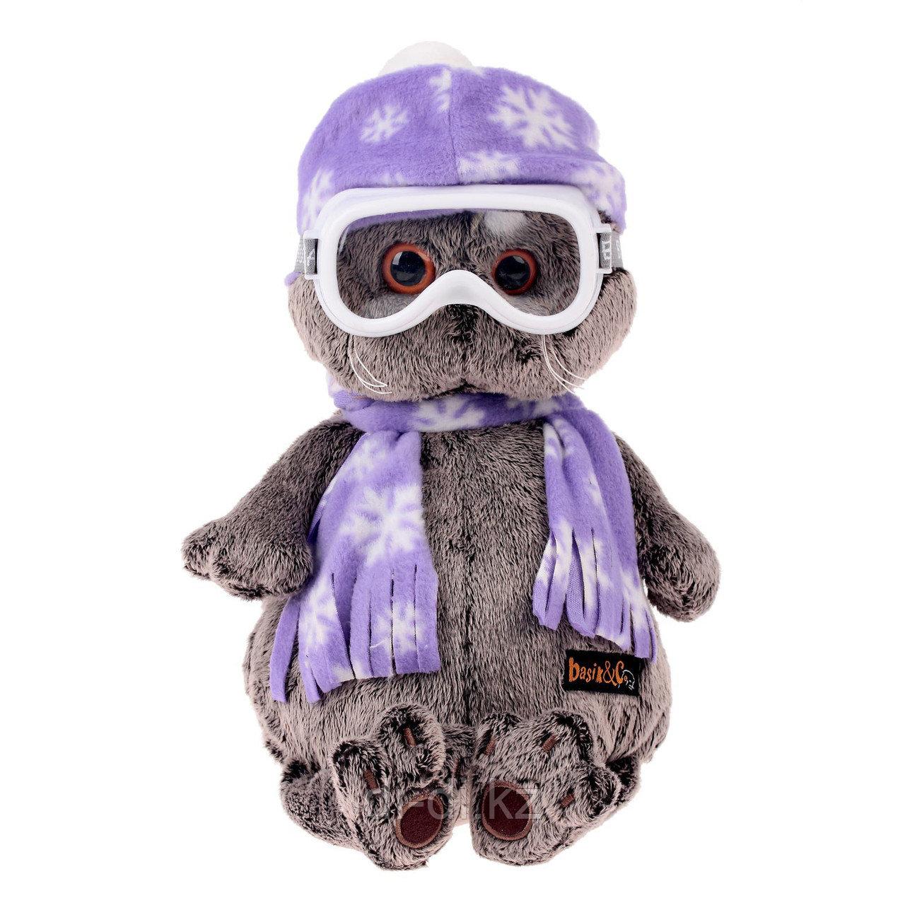"""Мягкая игрушка """"Кот Басик-лыжник"""" (30 см)"""