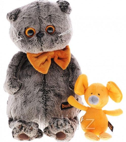 """Мягкая игрушка """"Кот Басик с мышкой Миленой"""" (30 см)"""