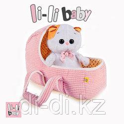 """Мягкая игрушка """"Кошечка Ли-Ли BABY в люльке"""" (20 см)"""