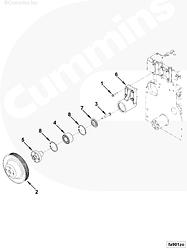 Опора вентилятора охлаждения двигателя Cummins QSB ISB 3913433 5260996 3911204 3910594 3908803 3913434