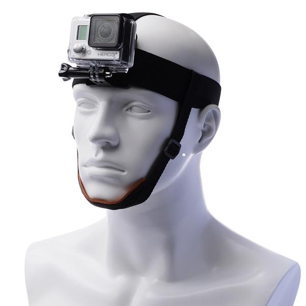 Крепление GoPro на голову с подбородным ремешком