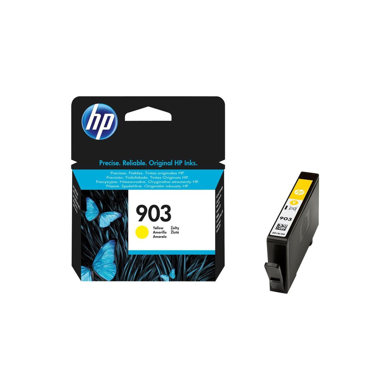 Струйный картридж HP 903 (Оригинальный, Желтый - Yellow) T6L95AE