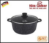 Кастрюля-казан с каменным покрытием Nice cooker 20 (Черная)