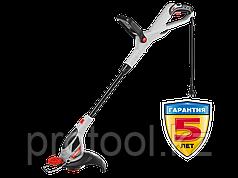 Триммер электрический, ЗУБР ЗТЭ-30-500, с нижним двигателем, ш/с 300мм, леска 5*1,6мм, автомат, телескоп. штан