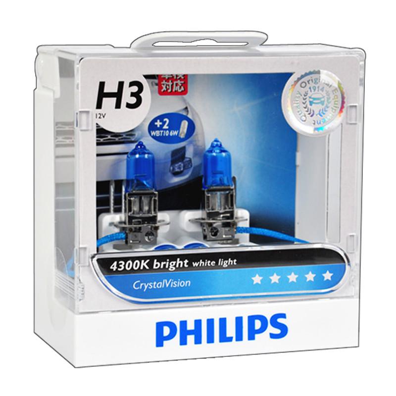 Лампы галогенные Philips CRYSTAL VISION CV H3